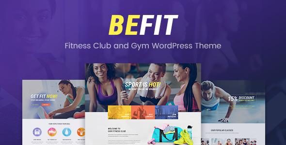 قالب Be Fit - قالب وردپرس فیتنس برای باشگاه و مراکز ورزشی