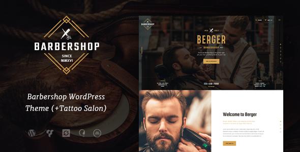 قالب Berger - قالب وردپرس آرایشگاه