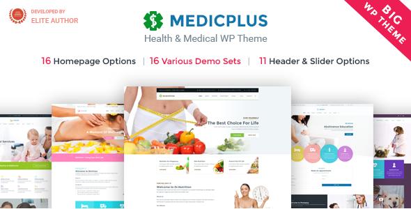 قالب Medic+ Health - قالب وردپرس پزشکی و سلامت