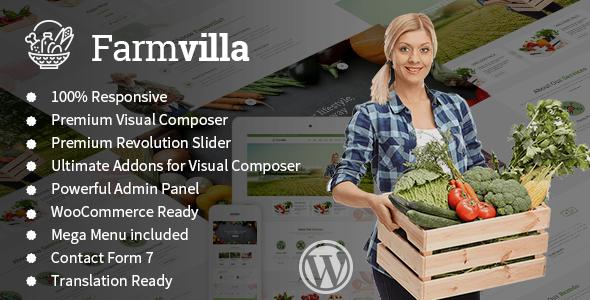 قالب Farmvilla - قالب وردپرس غذای ارگانیک