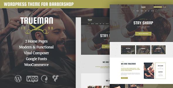قالب Trueman - قالب وردپرس آرایشگاه و سالن زیبایی