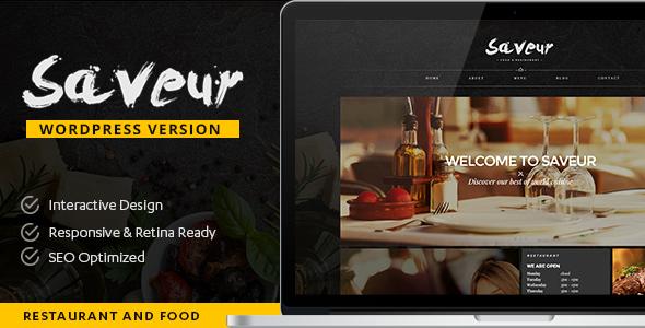 قالب Saveur - قالب وردپرس غذا و رستوران