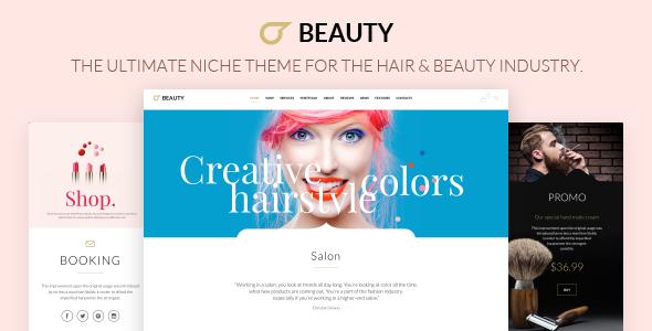 قالب Beauty Hair Salon - قالب وردپرس سالن زیبایی