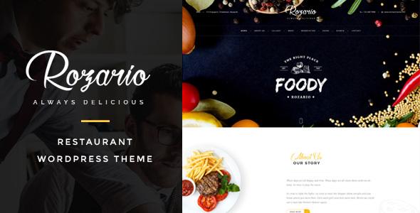Rozario - قالب وردپرس رستوران و غذا