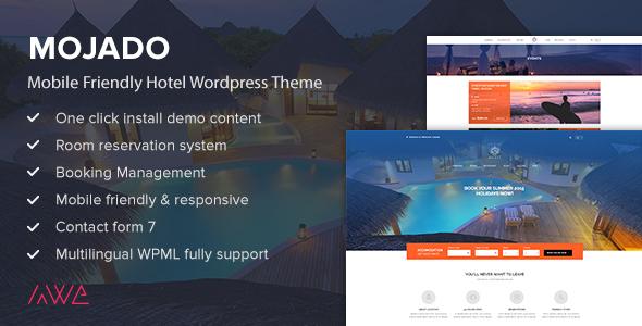 قالب Mojado - قالب وردپرس سایت هتل