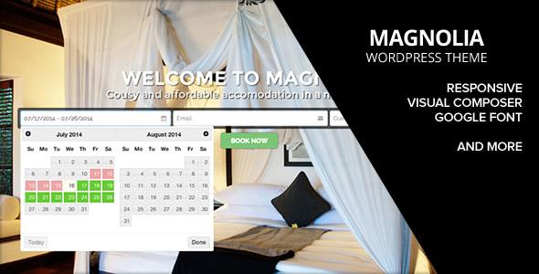 قالب هتل مگنولیا   HOTEL MAGNOLIA - قالب وردپرس