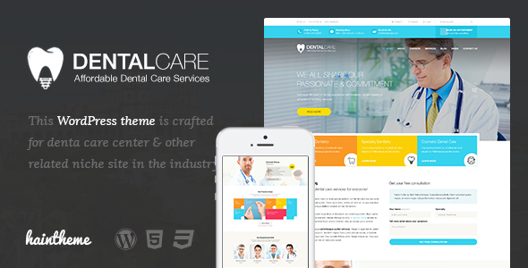 قالب Dentalcare - قالب وردپرس پزشکی و سلامتی