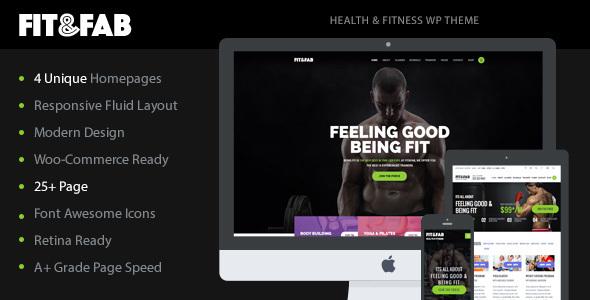 قالب Fit & Fab - قالب وردپرس ایروبیک، سالن ورزشی و تناسب اندام