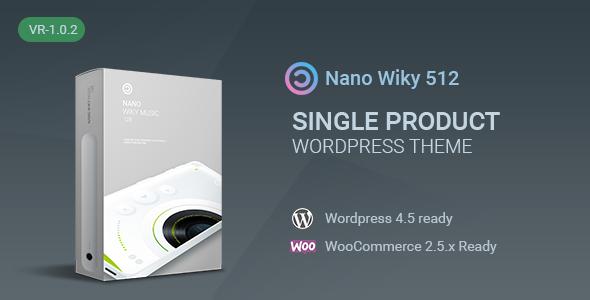 قالب Nano-Music Player - قالب وردپرس تک محصول