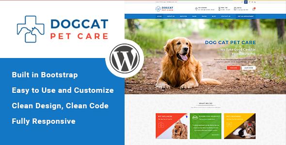 قالب Pet Care - قالب وردپرس دامپزشکی