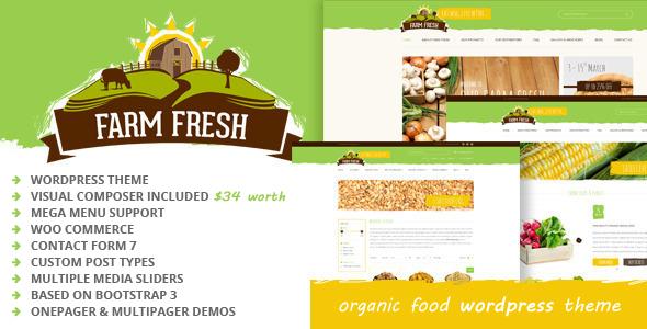 قالب Farm Fresh - قالب وردپرس محصولات ارگانیک