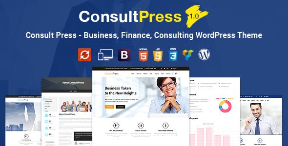 قالب Consult Press - قالب وردپرس امور مالی و مشاوره ای