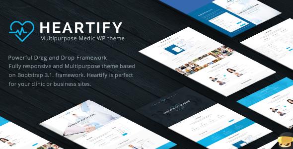 قالب Heartify - قالب وردپرس بهداشت و درمان پزشکی و کلینیک