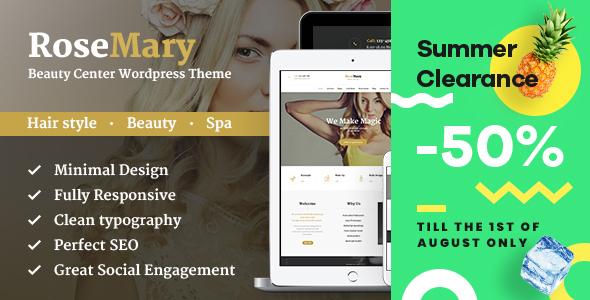 قالب RoseMary - قالب وردپرس آرایشگاه و سالن زیبایی