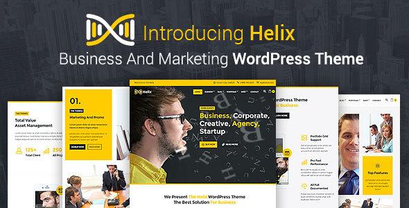 قالب Helix - قالب وردپرس کسب و کار و بازاریابی