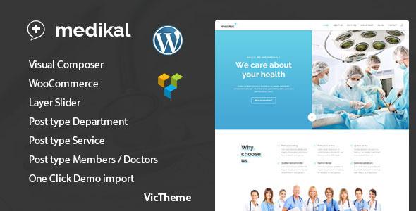 قالب Medikal - قالب وردپرس بهداشت و درمان پزشکی