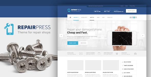 قالب RepairPress - قالب وردپرس تعمیرات و فروشگاه موبایل
