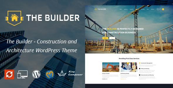 قالب The Builder - قالب وردپرس شرکت ساختمانی