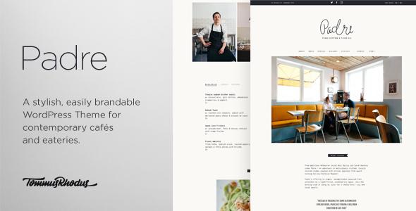قالب Padre - قالب وردپرس کافه و رستوران