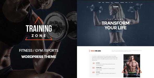 قالب Training Zone - قالب وردپرس باشگاه ورزشی تناسب اندام