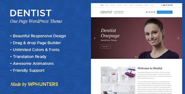 قالب Dentist - قالب وردپرس دندانپزشکی