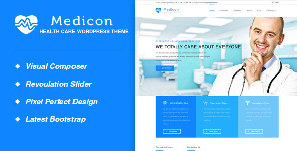 Medicon - قالب سلامتی و پزشکی وردپرس