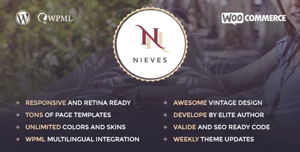 قالب Nieves - پوسته وردپرس سالن زیبایی
