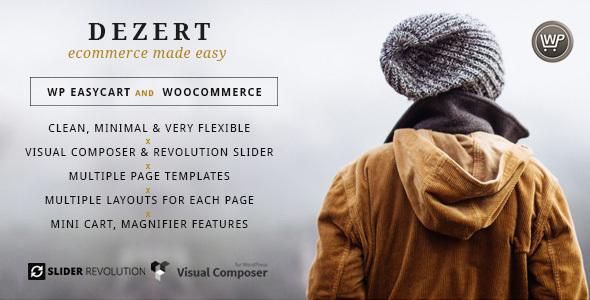 قالب Dezert - قالب سایت فروشگاهی