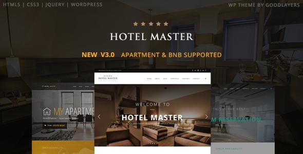 قالب Hotel Master - قالب وردپرس سایت رزرو هتل