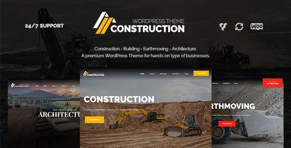 قالب Construction - قالب وردپرس ساخت و ساز و معماری