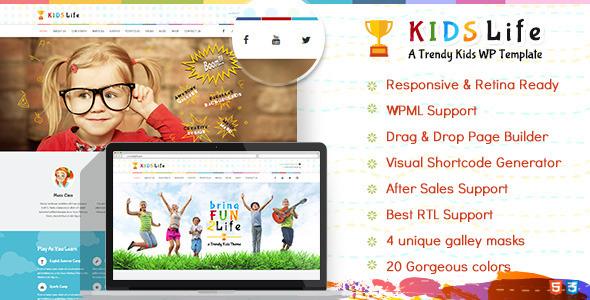 قالب Kids Life - قالب وردپرس کودکان