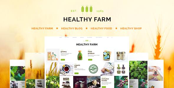 قالب Healthy Farm - قالب وردپرس غذا و کشاورزی