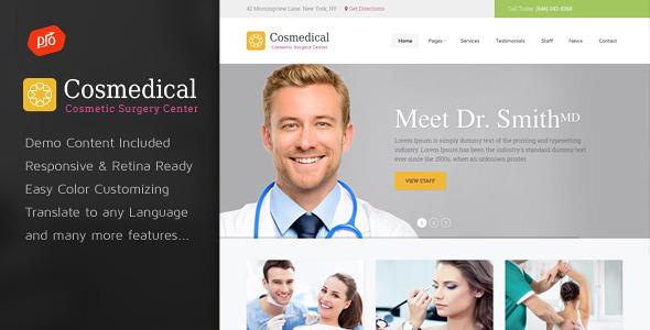 قالب Cosmedical - قالب وردپرس سلامتی و پزشکی