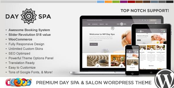 WP Day - قالب وردپرس سالن زیبایی و اسپا