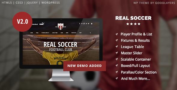 قالب Real Soccer - قالب وردپرس باشگاه ورزشی