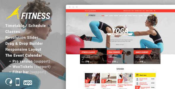 Gym & Fit - قالب وردپرس باشگاه تناسب اندام