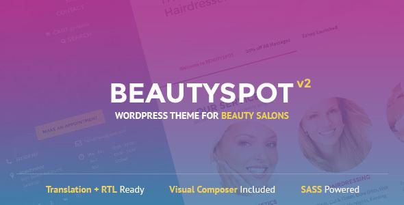 قالب BeautySpot - قالب وردپرس برای سالن های زیبایی