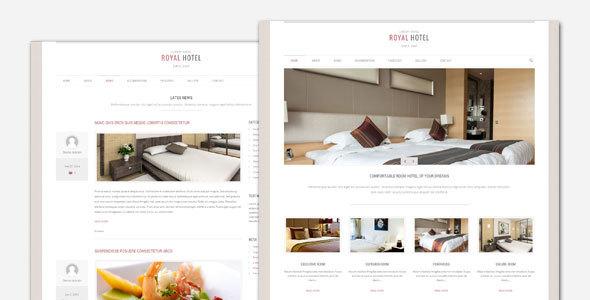 Royal - قالب وردپرس هتل و رستوران