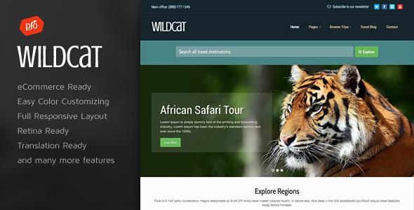 قالب Wildcat - قالب وردپرس مسافرت و رزرو سفر