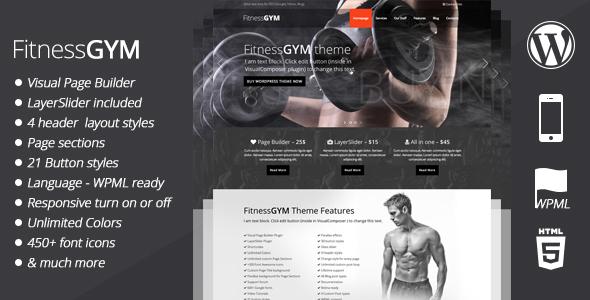 FitnessGYM - قالب وردپرس ورزش و تناسب اندام