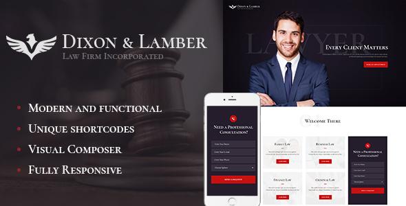 قالب Dixon & Lamber - قالب وردپرس شرکت حقوقی