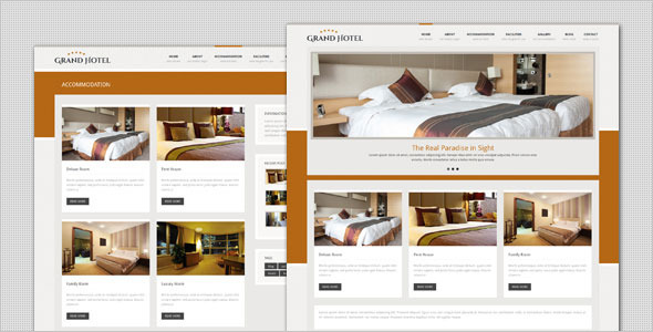 قالب Grand Hotel - پوسته وردپرس تجاری