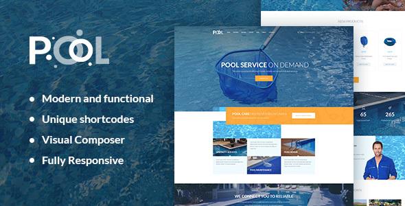 قالب Pool - قالب وردپرس خدمات تعمیر و نگهداری