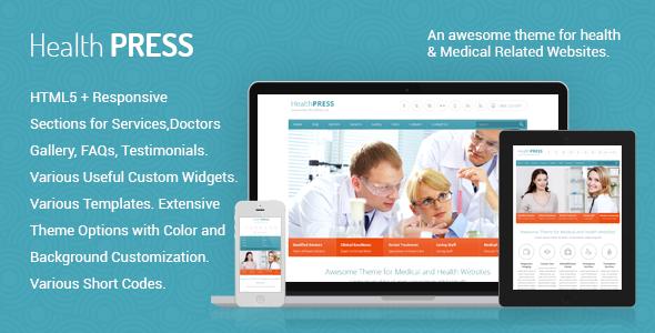 HealthPress - قالب سلامتی و پزشکی وردپرس
