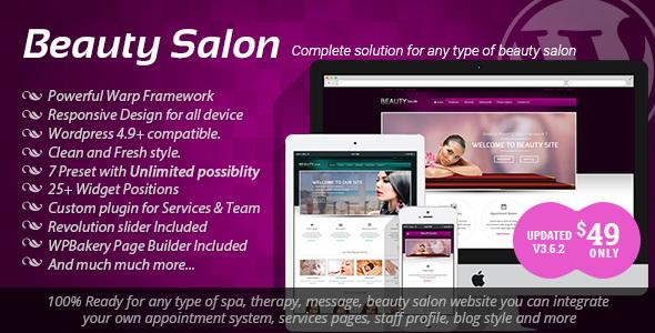Beauty Salon - قالب وردپرس