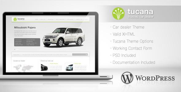 قالب Tucana - قالب وردپرس نمایشگاه ماشین