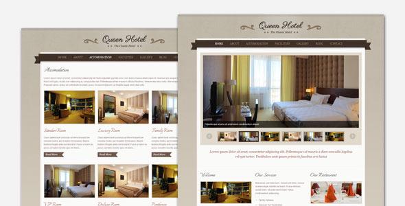 قالب Queen Hotel - پوسته وردپرس کلاسیک و زیبا