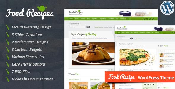 قالب فود رسپیز | Food Recipes - قالب وردپرس