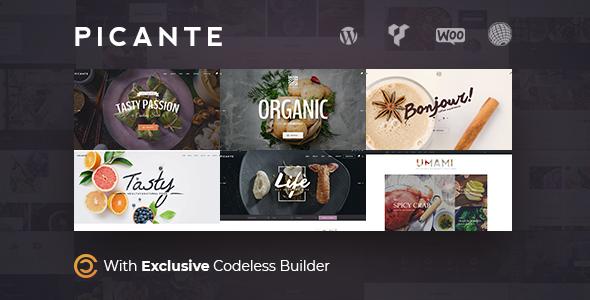 قالب Picante - قالب وردپرس رستوران و غذا