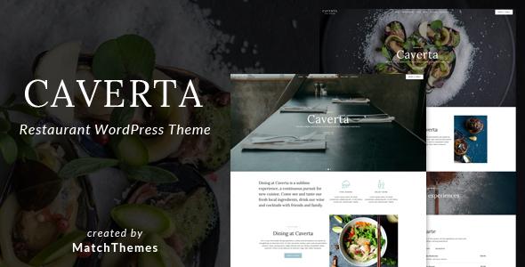 قالب Caverta - قالب وردپرس سایت رستوران